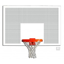 "42"" x 60"" Perforated Steel Rectangular Backboard with Target & Border"