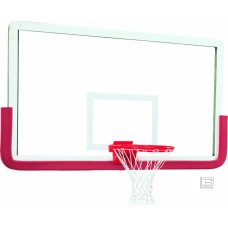 "42"" x 72"" Outer Limit Pro Glass Backboard with Aluminum Frame, Center Mount without Center Strut"