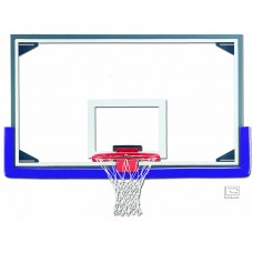 "42"" x 72"" Regulation Glass Backboard with Aluminum Frame"
