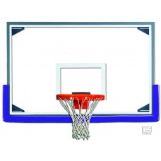 "48"" x 72"" Tall Glass Backboard with Aluminum Frame"