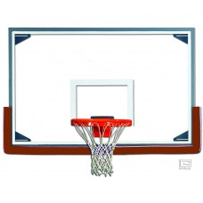 "48"" x 72"" Tall Glass Backboard with Steel Frame"