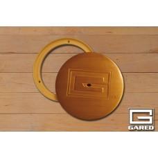 """6 1-4"""" Outside, 5"""" Inside Diameter Swivel Cover Plate, Brass"""
