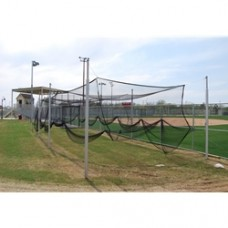 "3-1-2"" O.D. Aluminum Batting-Multi-Sport Cage Structure, 12' W x 10' H x 55' L, 8 Posts"