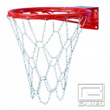 Steel Chain Basketball Net for Double Bumped-Ring Goals