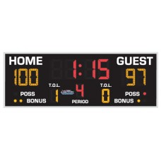 "All American 2'8"" x 8'0"" Standard Basketball-Volleyball Scoreboard"