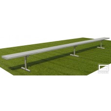 15' Spectator™ Bench without Back, Portable