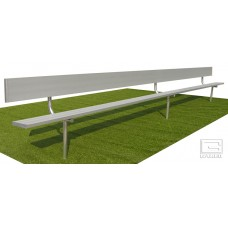 15' Spectator™ Bench with Back, Permanent