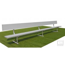 15' Spectator™ Bench with Back, Portable