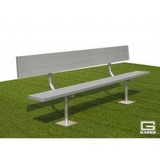 15' Spectator™ Bench with Back, Surface Mount