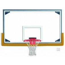 "42"" x 72"" Regulation Glass Backboard with Steel Frame & Perimeter LED Light System"
