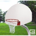 "3-1-2"" O.D. Front Mount Gooseneck Post with Braces, 3' Extension, BB48A38 Backboard, 726 Goal"
