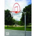 "3-1-2"" O.D. Front Mount Gooseneck Post with Braces, 3' Extension, 1750B Backboard, 39WO Goal"