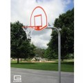 "3-1-2"" O.D. Front Mount Gooseneck Post with Braces, 3' Extension, 1245T Backboard, 39WO Goal"