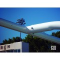 "RedZone™ 4-1-2"" O.D., 18' 6"" Crossbar, College Football Goalposts, Galvanized, Permanent-Sleeve-Mount"
