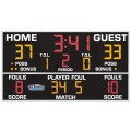 "All American 5'0"" x 9'0"" Basketball-Volleyball Scoreboard with Fouls"