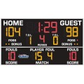 "All American 6'10"" x 12'0"" Basketball-Volleyball Scoreboard with Fouls"