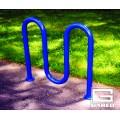 """3' 3"""" Loop-Style Bike Rack, 5 Bikes, Powder Coated"""